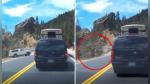 Olvidó lo que todo conductor debe hacer siempre al detener su auto y pagó las consecuencias - Noticias de acantilados