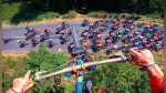 El alucinante salto de un ciclista de montaña sobre el Tour de Francia - Noticias de viral