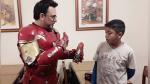 El 'Iron Man' argentino, el superhéroe que recorre hospitales para ayudar a los niños - Noticias de iron man