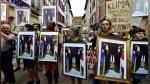 Retratos de Macron boca abajo durante protesta en plena cumbre G7 | FOTOS - Noticias de calentamiento global