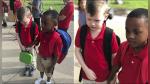 Notó que su compañero con autismo lloraba y lo tomó de la mano para tranquilizarlo - Noticias de autismo